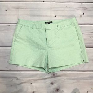 Banana Republic Mint Green Jacquard Shorts Size 14